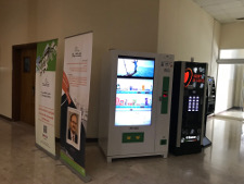 a smart vending machine selling drinks and snacks @ the University of Sharjah