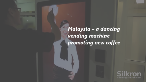 Malaysia – a dancing vending machine promoting new coffee