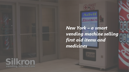 New York - a smart vending machine selling first aid items and medicines